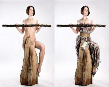 Aktfotografie mal ganz anders - Nackt in Hüllen