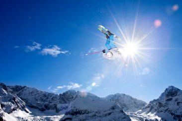 Skistunt Zugspitze