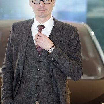Shooting mit BMW i3 Designer Daniel Starke in der BMW Welt