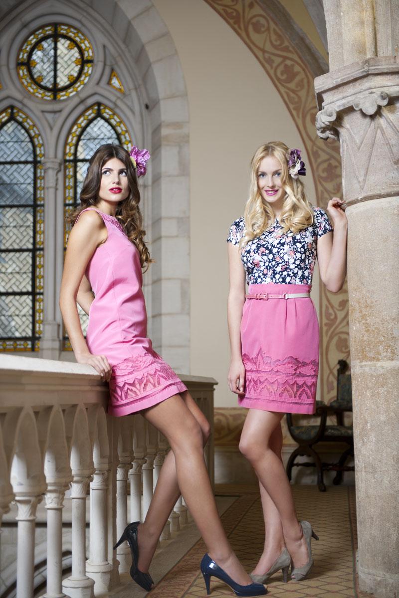Spektakuläre Modefotos Klosterfenster und Kreuzgang