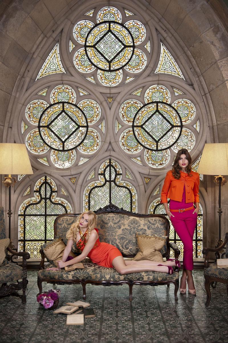 Spektakuläre Modefotos Klosterfenster