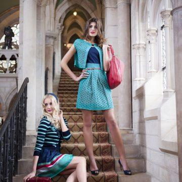 Modefotos im französischen Klostergemäuer bei Dijon