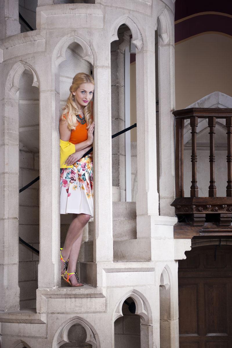 Modefotos in außergewöhnlicher Location - Abbaye de la Bussiere