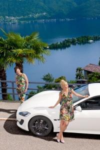 Produktion Modefotos mit Maserati und dem Lago Maggiore