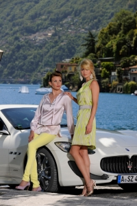 Produktion Modefotos mit Maserati am Lago Maggiore