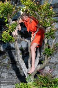 Produktion Modefotos italienische Altstadt
