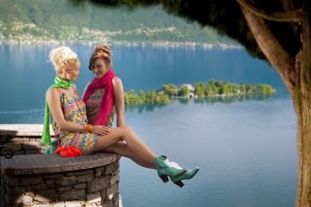 Produktion Modefotos Lago di Maggiore
