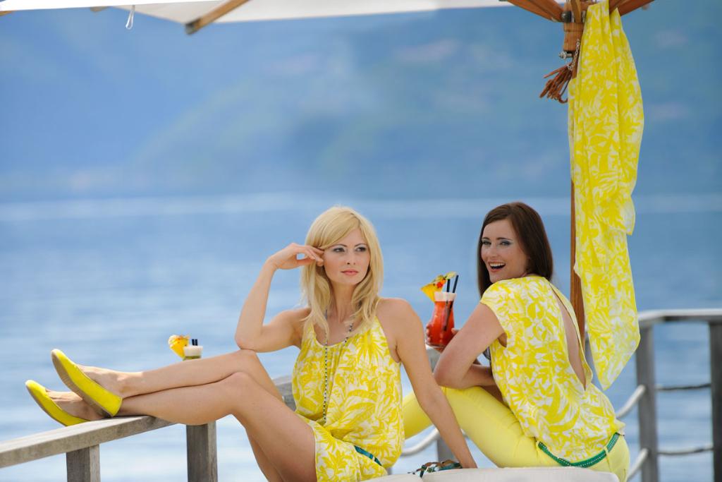 Produktion Modefotos Lounge am Lago di Maggiore