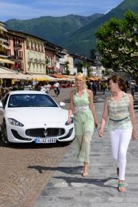 Produktion Modefotos mit Maserati in Ascona