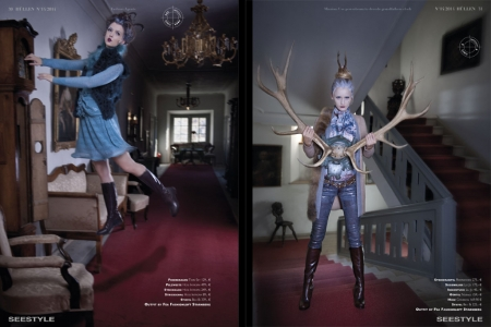 Fashionshooting spooky altes Schloss