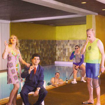 Werbefotoshooting 80er Jahre Poolparty
