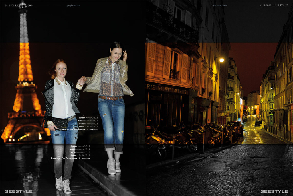 Herbst- Wintermode am Eifelturm - Das Fashioneditorial für das Lifestyle Magazin Seestyle