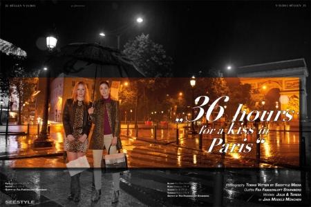Julia und Tereza am Arc de Triomphe in Paris. Modefotograf Tobias Vetter shootet das Fashioneditorial